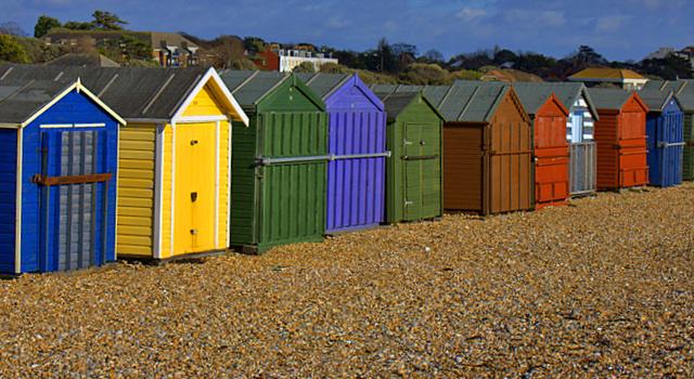 Beach huts on Hayling Island
