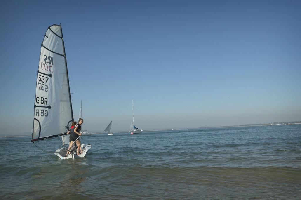 Windsurfing on Hayling Island